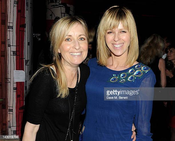 Fiona Phillips and Kate Garraway attend Jonathan Shalit's 50th birthday party at The VA on April 17 2012 in London England
