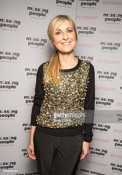 Fiona Phillips arrives for the 'Home for Christmas' fundraising dinner and auction in aid of Missing People at the Corinthia Hotel on November 05...