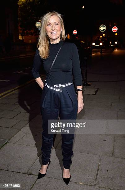 Fiona Phillips attends a celebration of Lorraine Kelly's 30 years in breakfast television at Langham Hotel on October 1 2014 in London England