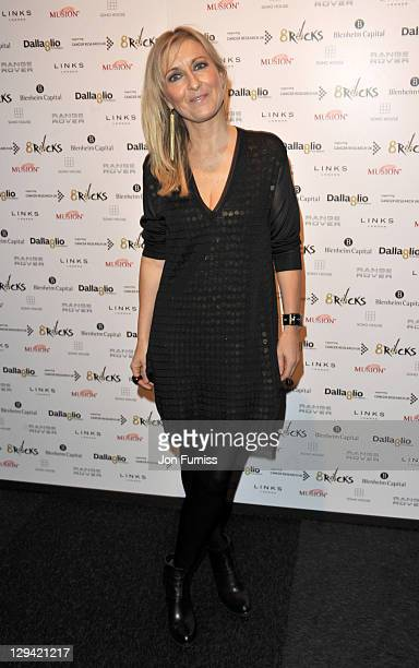 Fiona Phillips attends the reception of 8Rocks party from Lawrence Dallaglio's Foundation in aid of Cancer Research UK at Battersea Evolution on...