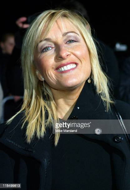 Fiona Phillips during National TV Awards Party Of The Year Arrivals at Royal Opera House WC2 in London Great Britain
