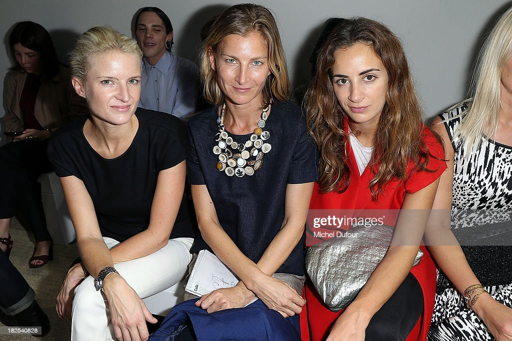 Fiona Scarry, Elisabeth von Guttman and Alexia Niedzielski attend the Giambattista Valli show as part of the Paris Fashion Week Womenswear Spring/Summer 2014 on September 30, 2013 in Paris, France.