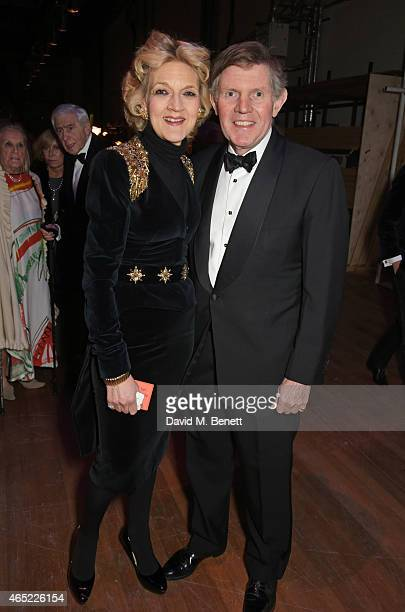 Fiona Shackleton and husband Ian Shackleton attend Fast Forward The National Theatre's fundraising gala at The National Theatre on March 4 2015 in...