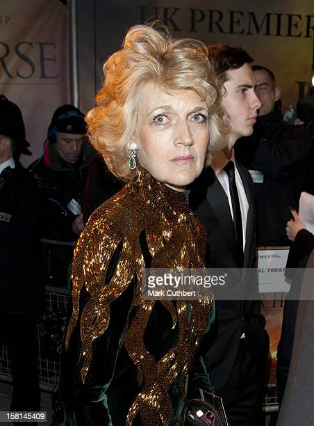 Fiona Shackleton Arrives For The Uk Royal Film Premiere Of War Horse At The Odeon West End London