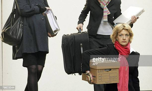 Fiona Shackleton lawyer for former Beatle Paul McCartney arrives at the Royal Courts of Justice in central London on February 18 2008 Former Beatle...