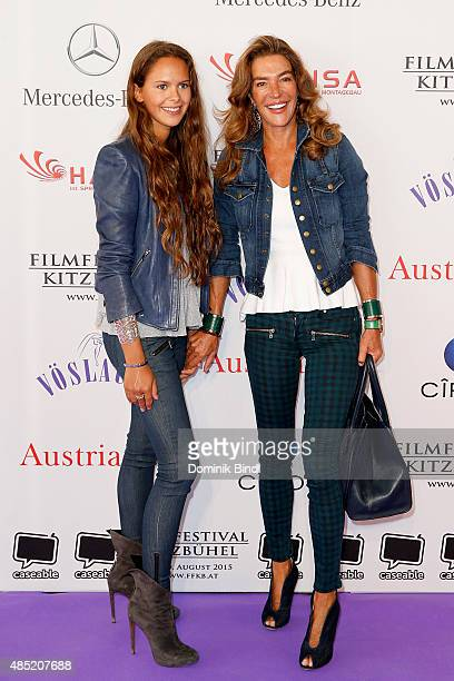 Fiona Swarovski and Alexandra attend the 'The Search For Freedom' premiere and opening night of the Kitzbuehel Film Festival 2015 at Filmtheater...