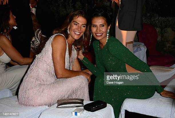 Fiona Swarovski and Goga Ashkenazi attend de Grisogono Glam Extravaganza at Hotel Du Cap EdenRoc on May 23 2012 in Cap D'Antibes France