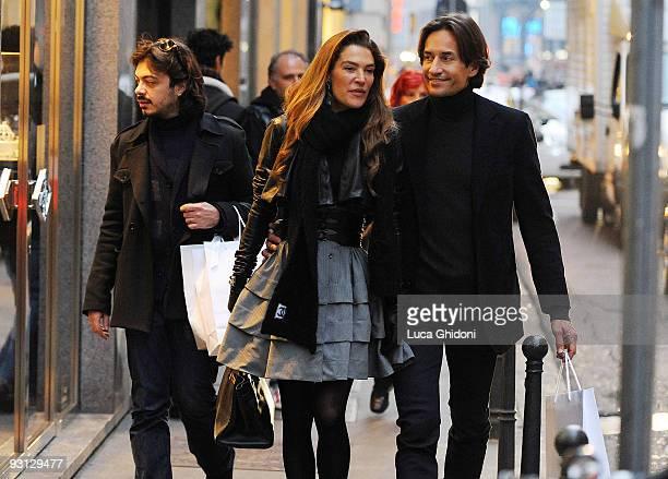 Fiona Swarovski and Karl Heinz Grasser are seen shopping on November 17 2009 in Milan Italy