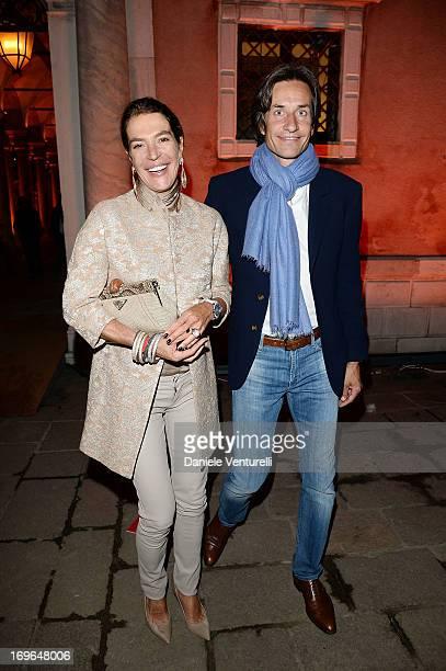 Fiona Swarovski and Karl Heinz Grasser attend the Dinner At 'Fondazione Cini Isola Di San Giorgio' during the 2013 Venice Biennale on May 29 2013 in...