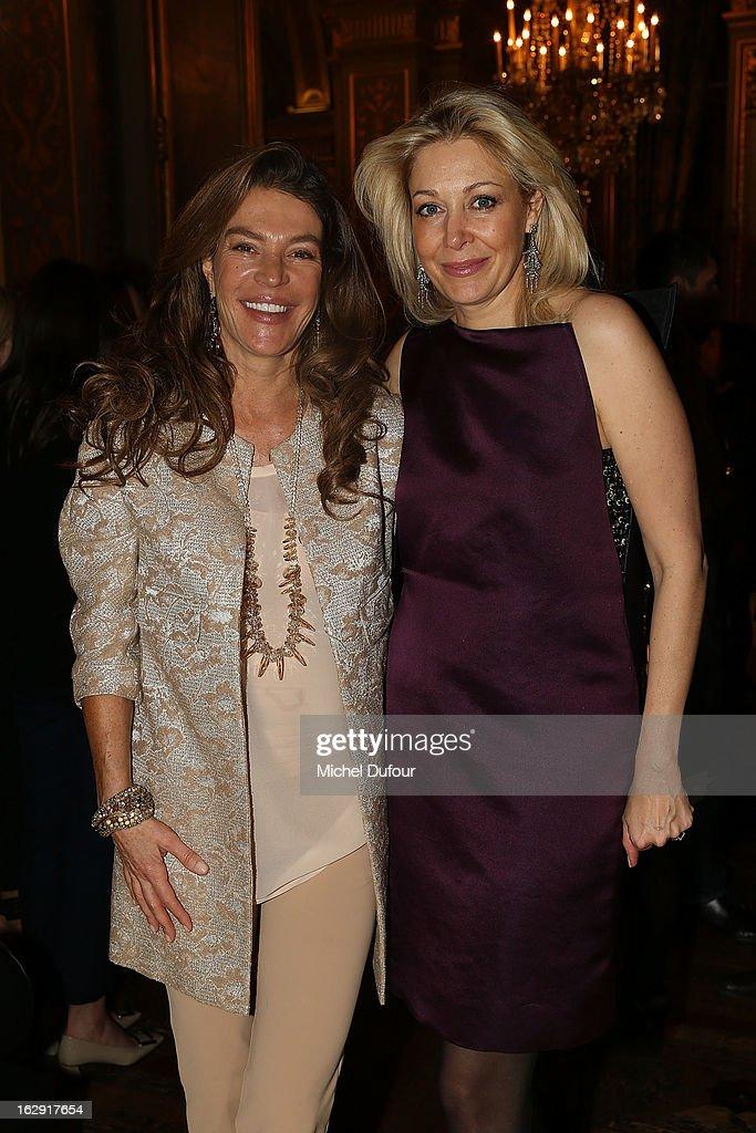 Fiona Swarovski and Nadja Swarovski Swarovski 'Paris Haute Couture' Exhibition as part of Paris Fashion Week on February 28, 2013 in Paris, France.