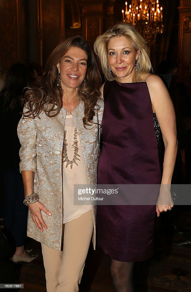 Fiona Swarovski and Nadja Swarovski Swarovski 'Paris Haute Couture' Exhibition as part of Paris Fashion Week on February 28, 2013 in Paris, France.