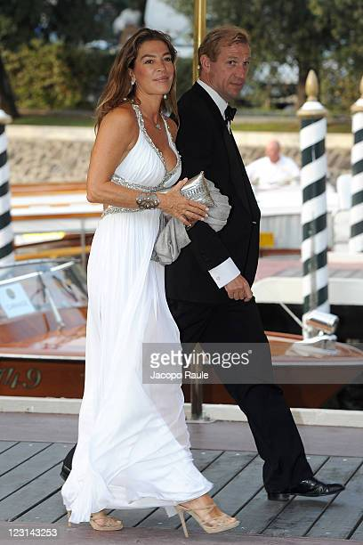 Fiona Swarovski and Toto Bergamo Rossi arrive at the Hotel Excelsior during the 68th Venice Film Festival on August 31 2011 in Venice Italy