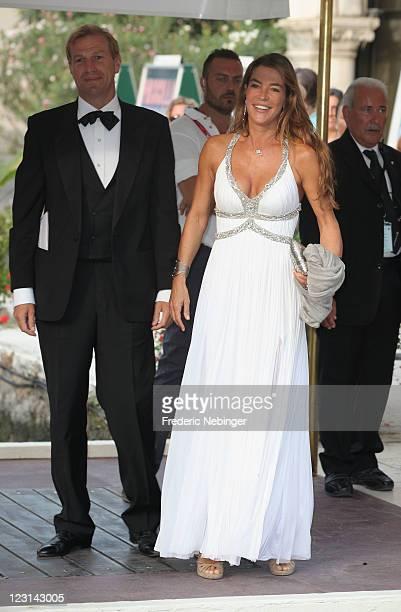 Fiona Swarovski and Toto Bergamo Rossi attend the 68th Venice Film Festival on August 31 2011 in Venice Italy