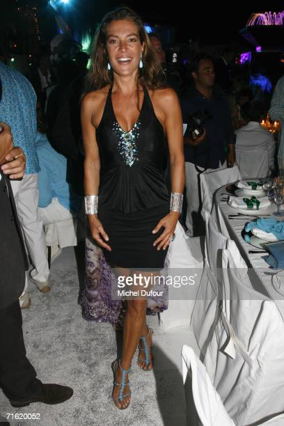 Fiona Swarovski attends the Fawaz Gruosi Birthday Party at the Billionhaire on August 8 2006 in Porto Cervo Sardinia