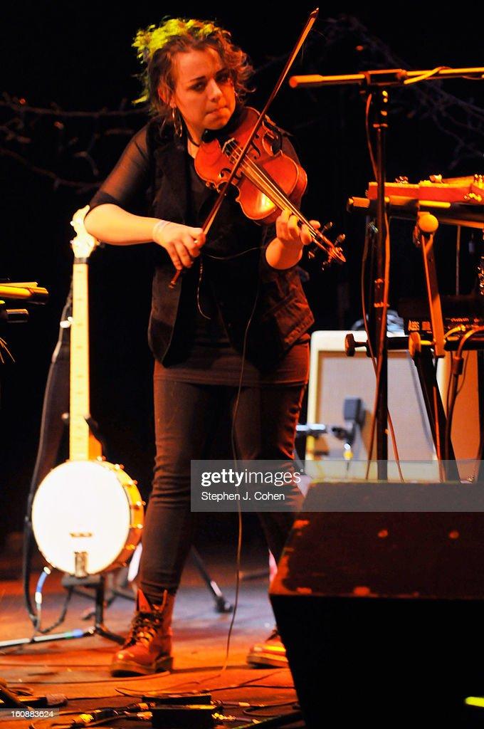 Fiona von Grey of Von Grey performs at Headliners Music Hall on February 6, 2013 in Louisville, Kentucky.