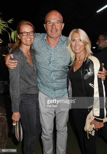 Fiona Weil her husband TV presenter Laurent Weil and Marie Sara Bourseiller attend the Tyga Party at VIP Room as part of SaintTropez Party On French...