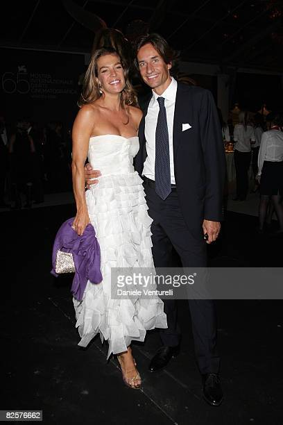 Fiona Winter Swarovski and Karl Heinz Grasser attend the Official Dinner during the 65th Venice Film Festival held at the Excelsior Hotel on August...