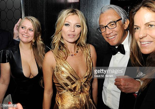 Fiona Young Kate Moss Sir David Tang and Lucy Tang attend an after party celebrating the launch of 'Kate The Kate Moss Book' hosted by Marc Jacobs...