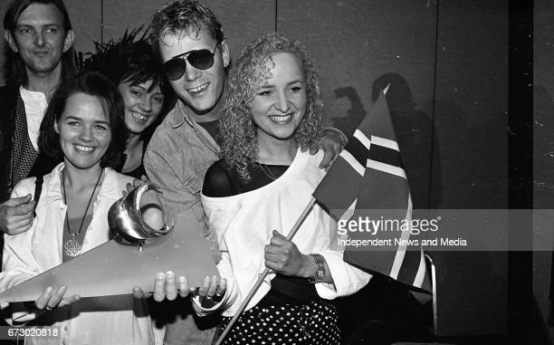 Fionnuala Sherry Violin Player with the Eurovision winners Secret Garden with Rolf Lovland and Asa Jinder the Norwegian Contestants in the Eurovision...