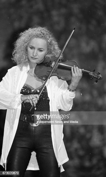 Fionnuala Sherry Violin Player with the Eurovision winners Secret Garden the Norwegian Contestants in the Eurovision Song Contest The Point Depot...