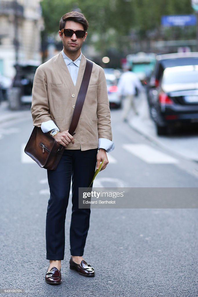 Fiora Cirulli is seen, before the Hermes show, during Paris Fashion Week Menswear Spring/summer 2017, on June 25, 2016 in Paris, France.