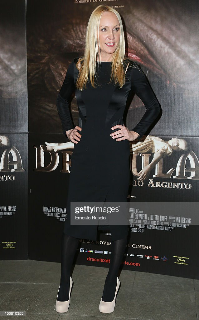 Fiore Argento attends the 'Dracula in 3D' premiere at Cinema Barberini on November 21, 2012 in Rome, Italy.