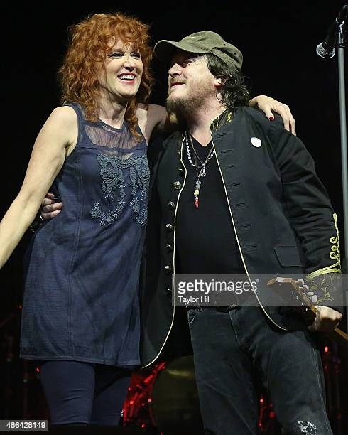Fiorella Mannoia and Zucchero perform at The Theater at Madison Square Garden on April 23 2014 in New York City