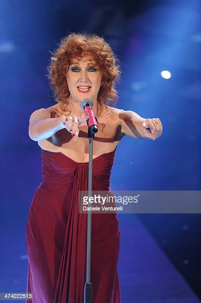 Fiorella Mannoia attends fourth night of the 64th Festival di Sanremo 2014 at Teatro Ariston on February 21 2014 in Sanremo Italy