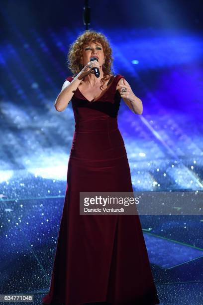 Fiorella Mannoia attends the closing night of 67th Sanremo Festival 2017 at Teatro Ariston on February 11 2017 in Sanremo Italy