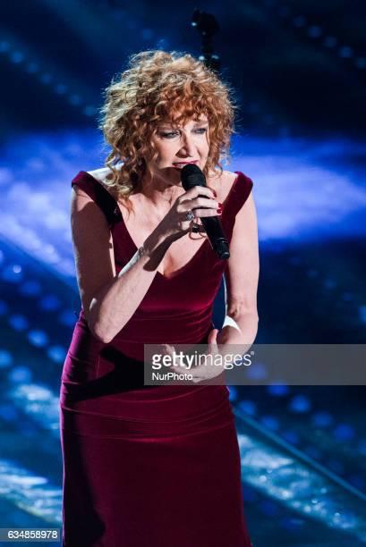 Fiorella Mannoia attends the closing night of 67th Sanremo Festival 2017 at Teatro Ariston on February 11 2017 in Sanremo Italy