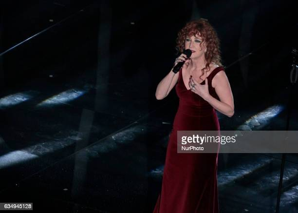 Fiorella Mannoia during the 67th edition of the Sanremo Festival on February 11 2017