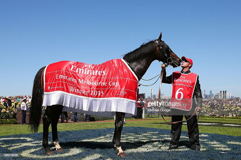 Fiorente looks ahead after winning race 7 The Emirates Melbourne Cup during Melbourne Cup Day at Flemington Racecourse on November 5, 2013 in Melbourne, Australia.