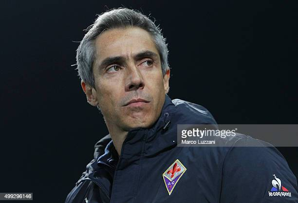 ACF Fiorentina coach Paulo Sousa looks on before the Serie A match between US Sassuolo Calcio and ACF Fiorentina at Mapei Stadium Città del Tricolore...