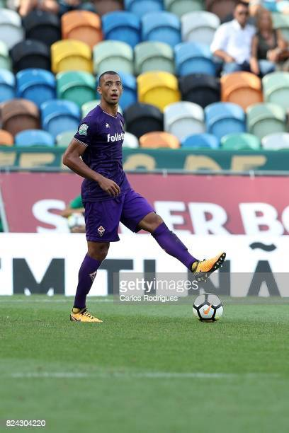Fiorentina defender Vitor Hugo from Brazil during the Five Violins Trophy match between Sporting CP and AC Fiorentina at Estadio Jose Alvalade on...