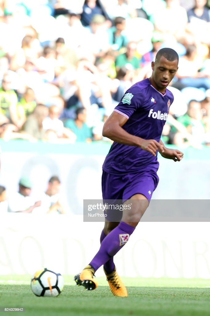 Fiorentina defender Vitor Hugo from Brazil in action during the Trophy Five Violins 2017 final football match Sporting CP vs ACF Fiorentina at Alvadade stadium in Lisbon, Portugal on July 29, 2017.
