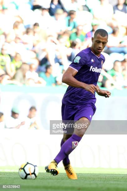 Fiorentina defender Vitor Hugo from Brazil in action during the Trophy Five Violins 2017 final football match Sporting CP vs ACF Fiorentina at...