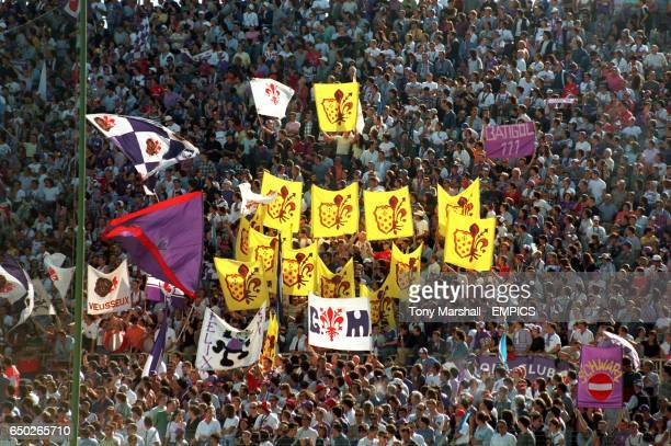 Fiorentina fans with flags