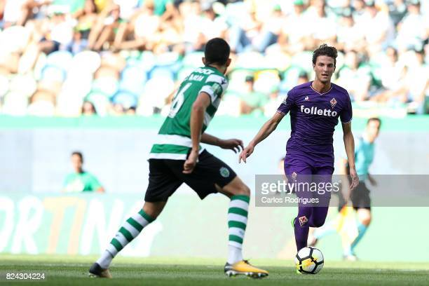 Fiorentina forward Rafik Zekhnini from Norway during the Five Violins Trophy match between Sporting CP and AC Fiorentina at Estadio Jose Alvalade on...