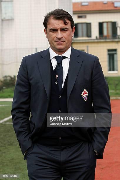 Fiorentina head coach Leonardo Semplici looks during the Viareggio Juvenile Cup match between ACF Fiorentina v Parma FC on February 13 2014 in...