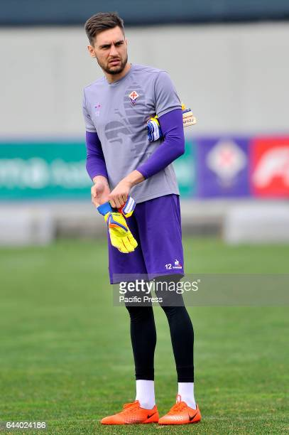 Fiorentina's Ciprian Tatarusanu during the training session at the Team's Sports Centre on the eve of the UEFA Europa League Round of 32 2nd leg...