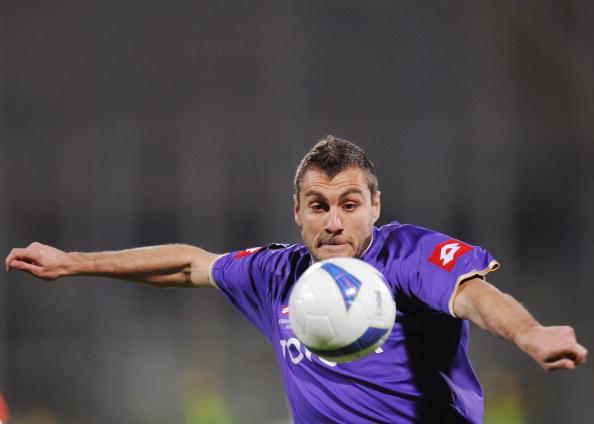 Fiorentina's forward Christian Vieri con : News Photo