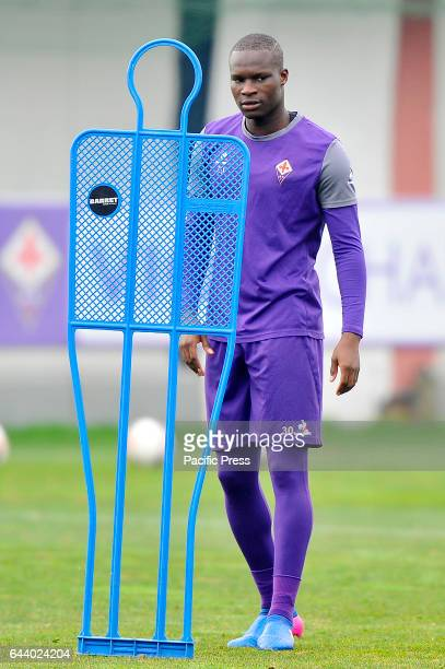 Fiorentina's Khouma El Babacar during the training session at the Team's Sports Centre on the eve of the UEFA Europa League Round of 32 2nd leg...