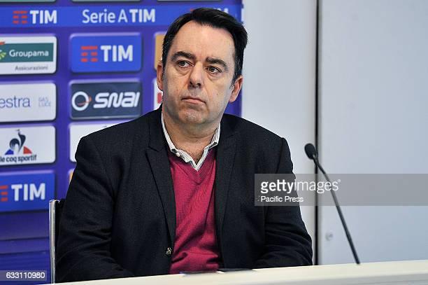 Fiorentina's Technical Director Carlos Freitas during the presentation of Riccardo Saponara as new player of the Italian Serie A soccer club ACF...