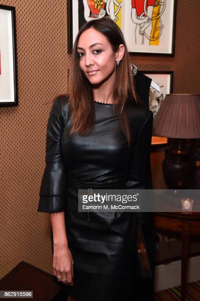 Fiorina Benveniste Schuler attends the Julia RestoinRoitfeld Christmas Edit for Warehouse launch at Mark's Club on October 18 2017 in London England