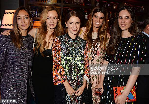Fiorina BenvenisteSchuler Camilla al Fayed Eugenie Niarchos Bianca Brandolini D'Adda and Tatiana Casiraghi attend the launch of the new Venyx Oseanyx...