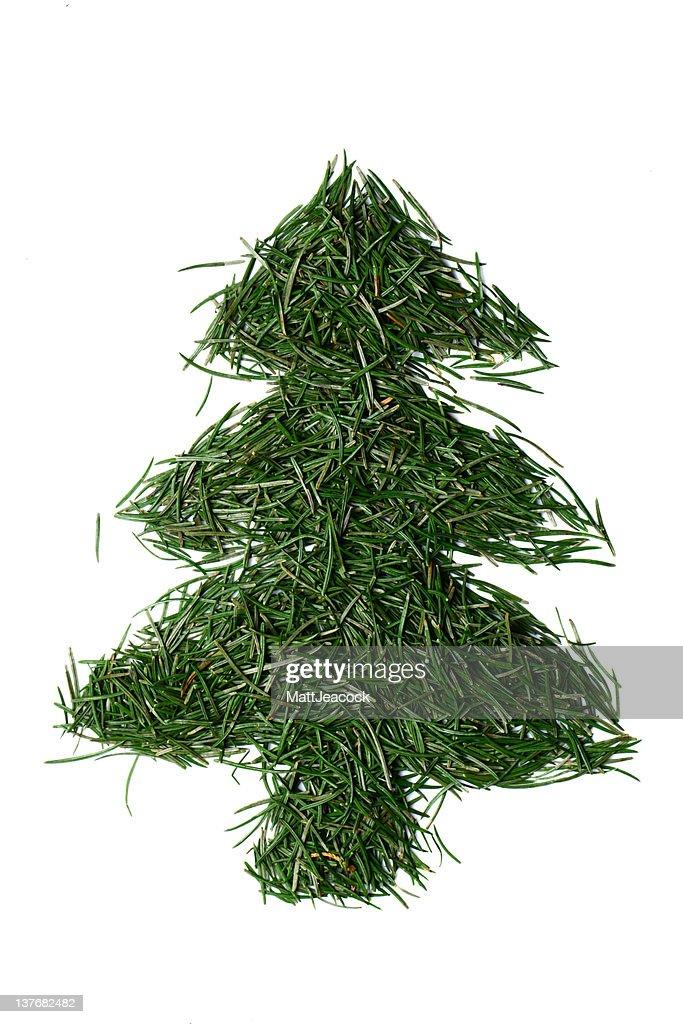 Fir needle christmas tree : Stock Photo