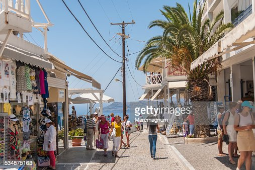 Fira, the main village on the island