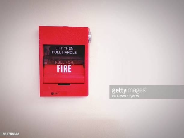 Fire Alarm Box At Wall