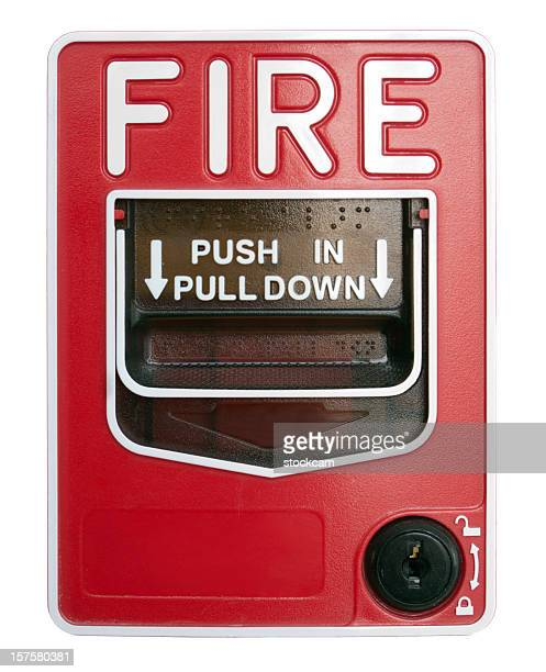 Fire Alarm isolated on white