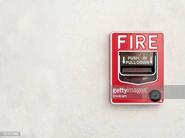 Alarme incendie sur blanc mur